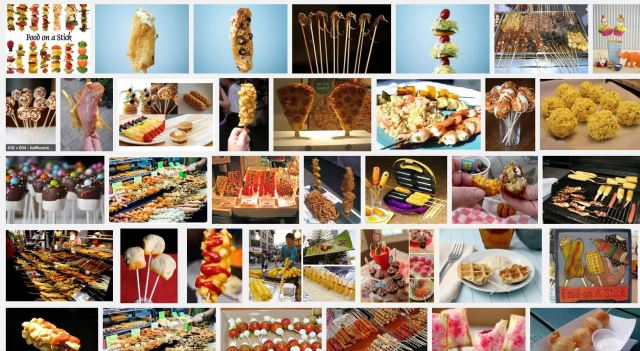 "Food on a stick ~ Photo Credit: Google Image Search ""Food on a stick"""
