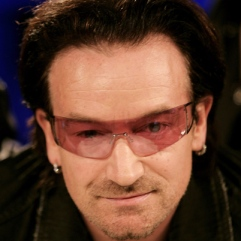 Would Bono even WRITE for my blog? Highly unlikely...I am not hipster enough...