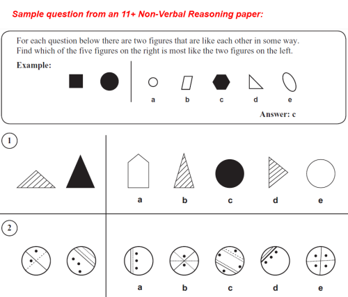 Sample Non Verbal Reasoning Question