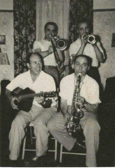 My Grandfather Tut and his brothers - all musical and looking very happy.